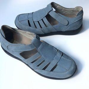 Drew Womens Ginger Fisherman Shoes Sz 8M Lt Blue